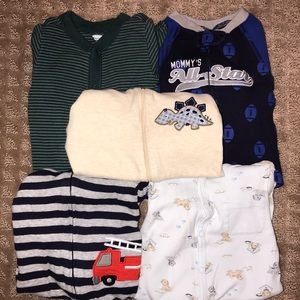 Other - baby boy footed pajamas, size 6-9M (lot of 5)